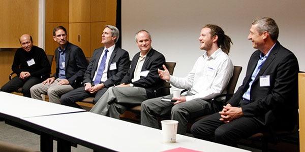 Researchers on symposium panel
