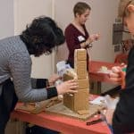 ginger bread competition at the Winter Recognition Event