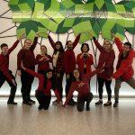 Yazdan Nerd lab wear red